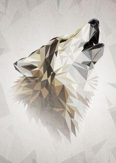 Portrait Illustrator, Adobe Illustrator, Art Et Design, Game Of Thrones Books, Polygon Art, House Stark, Tatoo Art, Grafik Design, Winter Is Coming