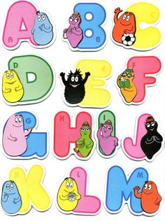 New Barbapapa Alphabet Stickers Barbapapa Raised Relief Sticker 3d Alphabet, Alphabet Stickers, Grande Section, Cute Characters, Diy Cards, Tweety, Childhood Memories, Free Printables, Diy And Crafts