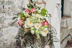 Ramo de novia con rosas de jardín :: English roses wedding bouquet