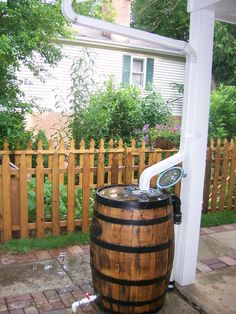 rain barrel - needs a stand so you can use the spigot a little easier...