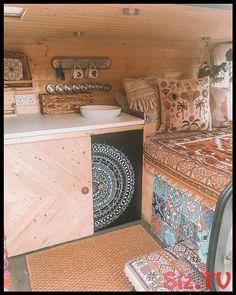Van Life Camper Conversion Vauxhall Vivaro Short Wheel Base Van Life Camper Conversion Bohemian Decor - Create Your Own Van Bus Life, Camper Life, Campers, Bus Living, Tiny Living, Van Hippie, Hippie Life, Kangoo Camper, Motorhome