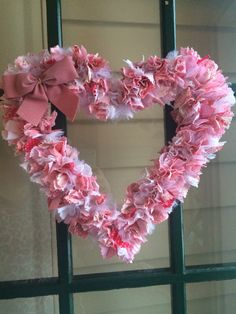All In A Day Or Two Heart Rag Wreath Tutorial DIY