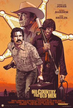 """No Country for Old Men by Chris Weston. 24""""x36"""" Screen Print. 11 Color Screen Print. Hand Numbered Variant Edition: 190/$60.00 Printed by Last Leaf #movieposter #poster #movies #nocountryforoldmen"""