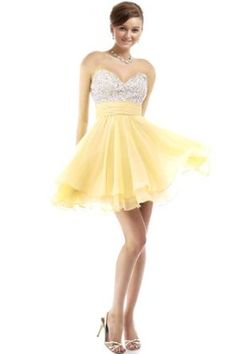 Faironly Crystal Mini Short Cocktail Homcoming Prom Dress,