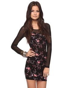 Forever 21 Fitted Floral Dress