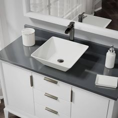 Rene by Elkay R2-5010-B-R9-7007 Biscuit Porcelain Vessel Sink with Vessel Faucet and Vessel Pop-Up Drain (