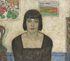 De_Smet_(Belgian artist, 1881-1966). portrait of the artists wife 1917