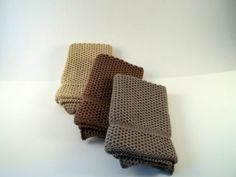 Dishcloths Knit in Cotton in MissionOak Mint and by TheNeedleHouse