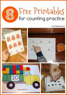 Counting: Free preschool printables