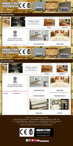 Natural Stone Exporter www.umangstone.com Web Design India, Stone Kitchen, Granite, Natural Stones, House, Home, Granite Counters, Homes, Houses