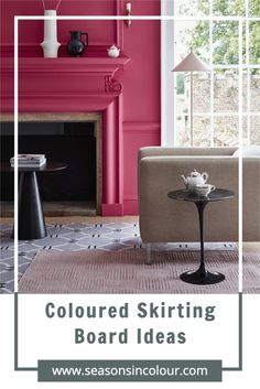 The pros and cons of coloured skirting boards. Should I paint my white skirting boards? This is a trend that has been going strong for a few years now, mostly because more people than ever decorate their homes in an array of colours - especially dark colours. How colour can transform any room in your home and add drama and character. #seasonsincolour #skirtingboards #color Interior Design Tips, Interior Projects, Popular Paint Colors, Dark Interiors, Creative Home, Stylish Bedroom, Trending Decor, Decorating Blogs, Stylish Bedroom Design