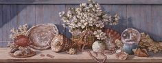 Seashell Collection I Fine-Art Print by Janet Kruskamp at FulcrumGallery.com