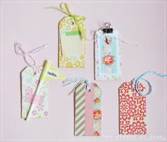 Two Shades of Pink: Pretty Packaging: Tags & Clips