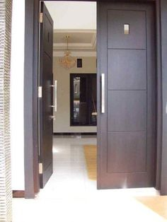 Ideas Main Door Design Modern Home For 2019 Wooden Double Doors, Double Front Doors, Wooden Front Doors, Front Door Entrance, The Doors, House Entrance, Front Entry, Entry Doors, Double Window