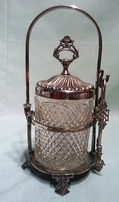 Antique Victorian Silverplate Pickle Castor by Hall Elton Co Wallingford | eBay...