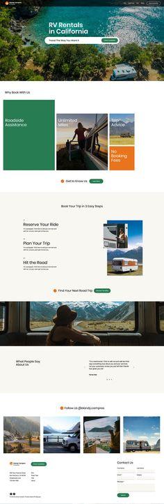 Wix Website Templates | RV Rentals Website Template