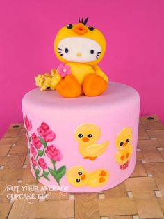 EDITOR'S CHOICE (04/08/2015) DUCK, DUCK....KITTY!!!!! by Sharon A. View details here: http://cakesdecor.com/cakes/190903-duck-duck-kitty