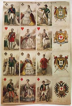 playing card: French cards, 19th century