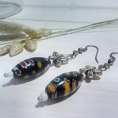 Lovely vintage Murano style dangle earrings with nickel free hooks for only €6,50 ,beautiful present for a low price. Itssomimi2