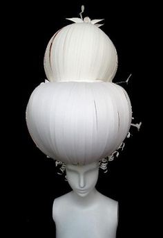 collection of paper wigs, «à la Marie Antoinette» | Atlanta-based duo Amy Flurry and Nikki Salk.