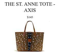 Barrington Gifts- St. Anne Axis Tote Yeeeees! Perfect deer lease/ ranch bag!