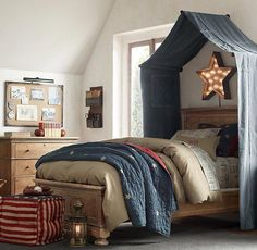 Romantic Bedroom Decor Ideas to Make Your Home More Stylish on a Budget - The Trending House Boys Bed Canopy, Canopy Over Bed, Bed Canopies, Tent Canopy, Fabric Canopy, Childrens Bed Canopy, Bed Canopy Diy, Toddler Canopy Bed, Crib Tent