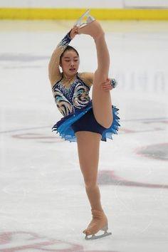 Riona Kato, Ladies free at U.S. International Classic 2014, Blue Figure Skating / Ice Skating dress inspiration for Sk8 Gr8 Designs