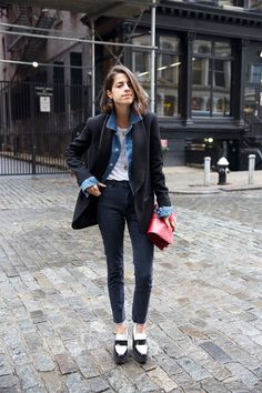 streetstyle inspiration Because It's Monday - Man Repeller Look Fashion, Winter Fashion, Fashion Outfits, Womens Fashion, Fashion Weeks, Milan Fashion, Leandra Medine, Mein Style, Mode Inspiration