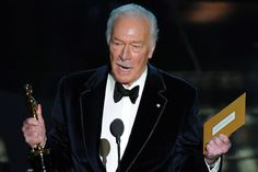With his 2012 Best Supporting Actor win for Beginners, Christopher Plummer became the oldest person to win an Oscar for acting at 82 years and 75 days.  Previously George Burns had been the oldest actor to win (for The Sunshine Boys at 80 years and 69 days) and Jessica Tandy had been the oldest actress (for Driving Miss Daisy at 80 years and 292 days).   (Academy Awards)