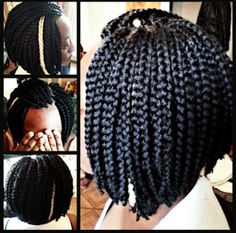 a perf box braids bob Natural Afro Hairstyles, Twist Hairstyles, African Hairstyles, Box Braids Bob, Short Box Braids, Twist Styles, Braid Styles, Natural Hair Tips, Natural Hair Styles