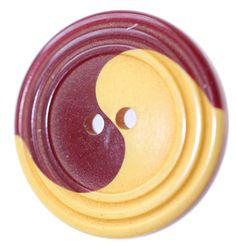 Red and Butterscotch Bakelite Cookie Button  Medium by KPHoppe