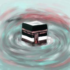 Khana Kaaba 598 2 by Mawra Tahreem - IHM – Mekkah Almukarramah The Effective Pictures We Offer You About salatul tasbeeh namaz A qual - Islamic Art Pattern, Pattern Art, Kunst Portfolio, Motifs Islamiques, Allah, Mekkah, Wallpaper Aesthetic, Islamic Paintings, Tattoo Flash Art