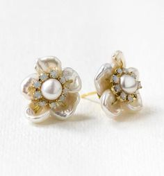 Buy Now Pearl Earrings Bridal Jewelry Stud Earrings Wedding... Pearl Earrings Wedding, Pearl Stud Earrings, Pearl Studs, Rhinestone Earrings, Bridal Earrings, Wedding Jewelry, Drop Earrings, Mens Gold Jewelry, Unique Jewelry