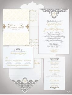 CeciStyle V105: Our Muse - Opulent Beach Wedding - Be inspired by Michelle-Lee & Justin's opulent beach wedding - invitations, wedding, letterpress printing, foil printing, die cutting