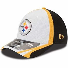8fc902f12f2 Pittsburgh Steelers New Era 39THIRTY 2014 Official Training Flex Fit Hat -  White Pittsburgh Steelers Hats