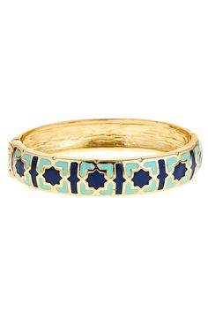 Gold enamel bracelets.  Kaleidoscope Bangle by Fornash. Accessories - Jewelry - Bracelets Virginia