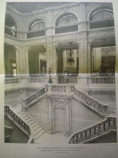 Main Staircase: Metropolitan Life Insurance Building on Madison Avenue and Twenty-Third Street, New York, NY, 1894, N. LeBrun & Sons