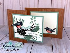 Fancy Fold Cards, Folded Cards, Bird On Branch, Card Templates, Applique Templates, Applique Patterns, Card Making Tutorials, Bird Cards, Stamping Up Cards