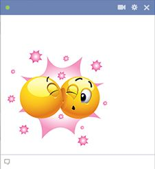 Kissing emoticons for Facebook