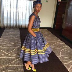 African Shweshwe Styles Trendy for Ladies - Fashion South African Fashion, African Fashion Ankara, Latest African Fashion Dresses, African Dresses For Women, African Print Dresses, African Print Fashion, African Attire, African Prints, Xhosa Attire