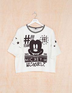 Bershka United Kingdom -Disney BSK neoprene T-shirt