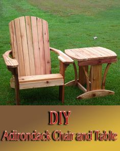 DIY - Adirondack Chair and Table - Quiet Corner