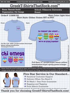 Chi Omega T-Shirts That Rock 115690 R2 ...................................................  WORK 1 ON 1 with a member of our design team until your T-Shirt idea is perfect.... and ALWAYS get them on in time (or before you even need them) at the price you want!  ...................................................  Just click this design, it will take you to our website where you can  upload your ideas and get everything started!
