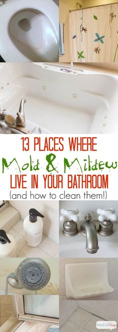 #ad 13 Places Where Mold & Mildew Live in Your Bathroom & How to Clean Them #Tilex