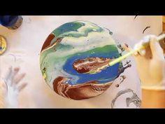 175 Dulux Test Pot Round Mirror Pour - No Cracking - YouTube