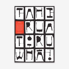 Tahi Rua Toru Whā  Designed with Angus Murray for The Letterheads Ltd