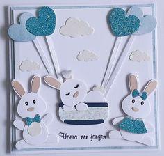 Baby Bunnies, Bunny, Kids Birthday Cards, Marianne Design, General Crafts, Diy Paper, Cardmaking, Album, Animal