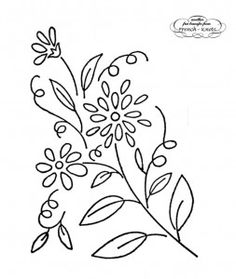 floral embroidery transfer pattern - nik vintage floral to check