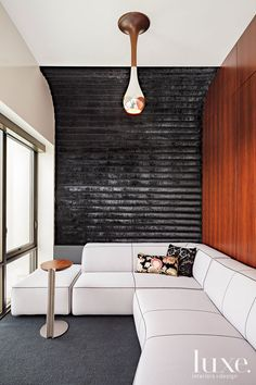 This would make great theater-room seating!  And I like the dark wall.