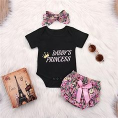 Fashion Newborn Baby Girl Floral Print Top Romper Tutu Pants Outfit Clothes US